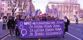 8th of march 2016, demonstration in Belgrade, Serbia